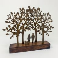 David Mayne 'A Walk in the Woods' Oxidised Steel Sculpture